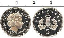 Изображение Монеты Великобритания 5 пенсов 2006 Серебро Proof