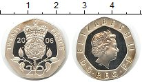 Изображение Монеты Великобритания 20 пенсов 2006 Серебро Proof Елизавета II