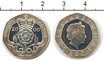 Изображение Монеты Великобритания 20 пенсов 2000 Серебро Proof Елизавета II