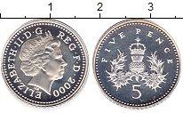 Изображение Монеты Великобритания 5 пенсов 2000 Серебро Proof Елизавета II