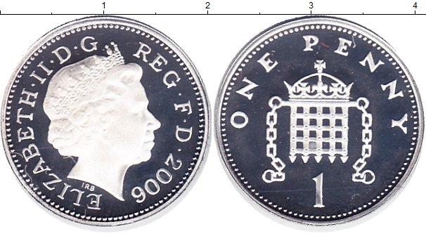 Картинка Монеты Великобритания 1 пенни Серебро 2006