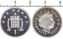 Изображение Монеты Великобритания 1 пенни 2000 Серебро Proof- Елизавета II