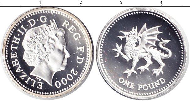 Картинка Монеты Великобритания 1 фунт Серебро 2000