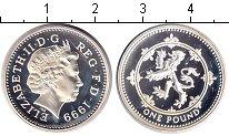 Изображение Монеты Великобритания 1 фунт 1999 Серебро Proof- Елизавета II.