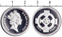 Изображение Монеты Великобритания 1 фунт 1996 Серебро Proof- Елизавета II.