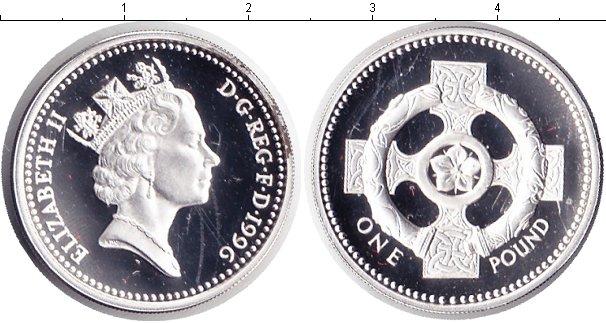 Картинка Монеты Великобритания 1 фунт Серебро 1996