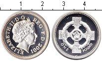 Изображение Монеты Великобритания 1 фунт 2001 Серебро Proof- Елизавета II.