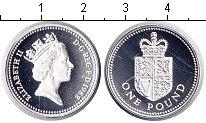 Изображение Монеты Великобритания 1 фунт 1988 Серебро Proof Елизавета II