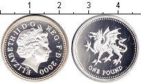 Изображение Монеты Великобритания 1 фунт 2000 Серебро Proof-