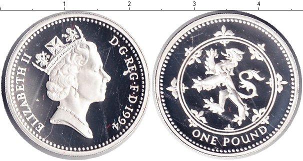 Картинка Монеты Великобритания 1 фунт Серебро 1994