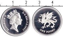 Изображение Монеты Великобритания 1 фунт 1995 Серебро Proof-