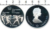 Изображение Монеты Канада 5 долларов 1976 Серебро Proof- XXI Олимпиада