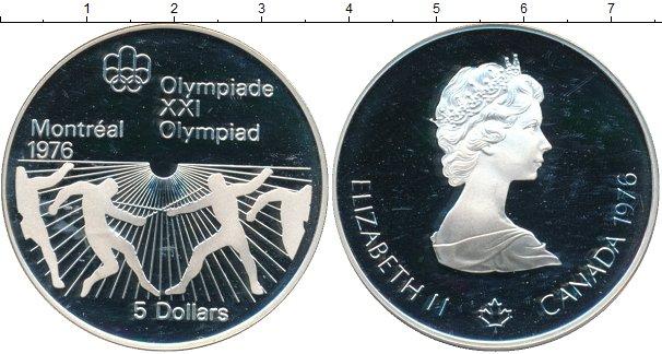 Картинка Монеты Канада 5 долларов Серебро 1976