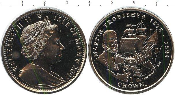 Картинка Монеты Остров Мэн 1 крона Медно-никель 2001