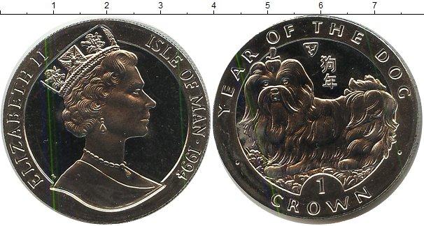 Картинка Монеты Остров Мэн 1 крона Медно-никель 1994