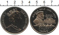 Изображение Монеты Остров Мэн 1 крона 1998 Медно-никель UNC Марко Поло