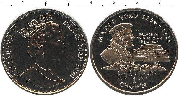 Картинка Монеты Остров Мэн 1 крона Медно-никель 1998