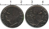 Изображение Монеты Италия 20 сентесим 1943 Железо XF Виктор Эмануил III