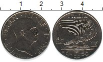 Изображение Монеты Италия 50 сентесим 1941 Железо XF Виктор Эмануил III