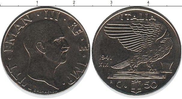 Картинка Монеты Италия 50 сентесим Железо 1941