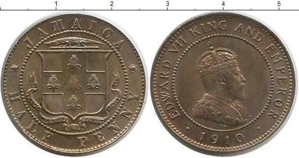 Картинка Монеты Ямайка 1/2 пенни Медно-никель 1910