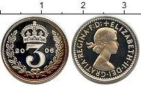 Изображение Монеты Великобритания 3 пенса 2006 Серебро Proof- Елизавета II. Из мау