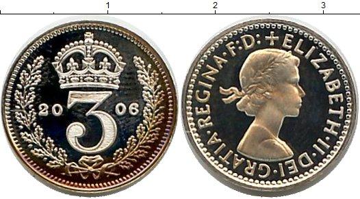 Картинка Монеты Великобритания 3 пенса Серебро 2006