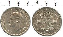 Изображение Монеты Великобритания 1/2 кроны 1943 Серебро UNC-