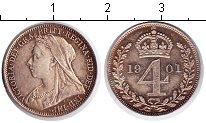 Изображение Монеты Великобритания 4 пенса 1901 Серебро XF