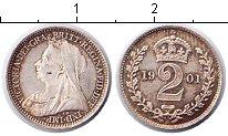 Изображение Монеты Великобритания 2 пенса 1901 Серебро XF Виктория. Из маунди-