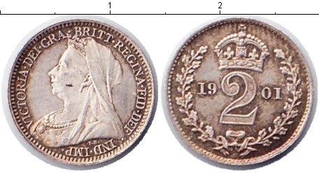 Картинка Монеты Великобритания 2 пенса Серебро 1901