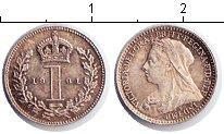 Изображение Монеты Великобритания 1 пенни 1901 Серебро XF Виктория. Из маунди-