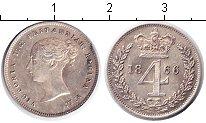 Изображение Монеты Великобритания 4 пенса 1866 Серебро XF Виктория. Из маунди-