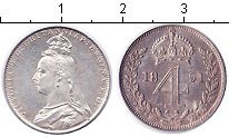 Изображение Монеты Великобритания 4 пенса 1891 Серебро XF Виктория. Из маунди-