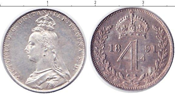 Картинка Монеты Великобритания 4 пенса Серебро 1891
