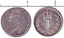 Изображение Монеты Великобритания 1 пенни 1891 Серебро XF Виктория. Из маунди-