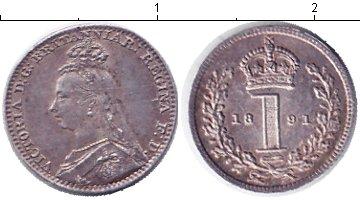 Картинка Монеты Великобритания 1 пенни Серебро 1891