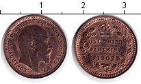 Изображение Монеты Великобритания 1/3 фартинга 1902 Медь XF Эдуард VII
