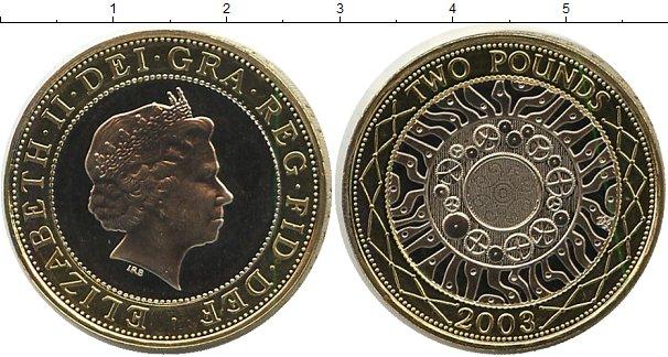 Картинка Монеты Великобритания 2 фунта Биметалл 2003
