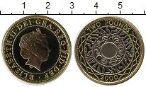 Изображение Монеты Великобритания 2 фунта 2000 Биметалл UNC- Елизавета II.