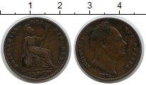 Изображение Монеты Великобритания 1 фартинг 1835 Медь VF Георг IV