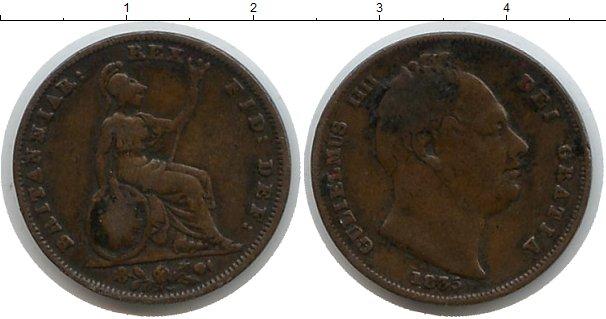 Картинка Монеты Великобритания 1 фартинг Медь 1835