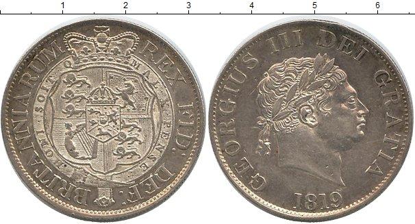 Картинка Монеты Великобритания 1/2 кроны Серебро 1819