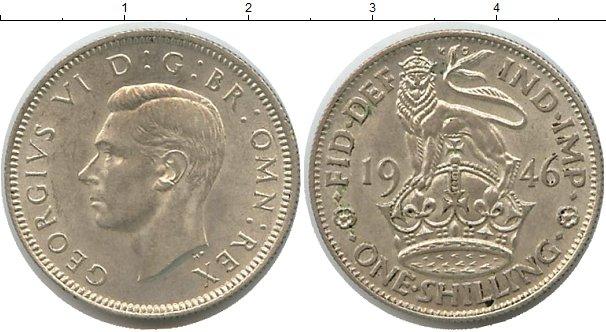Картинка Монеты Великобритания 1 шиллинг Серебро 1946