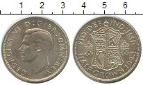 Изображение Монеты Великобритания 1/2 кроны 1943 Серебро XF
