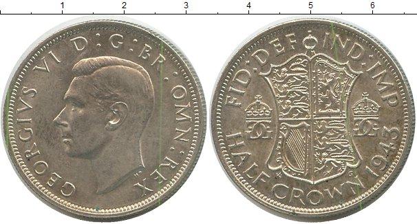 Картинка Монеты Великобритания 1/2 кроны Серебро 1943