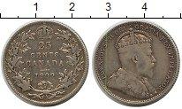 Изображение Монеты Канада 25 центов 1909 Серебро VF Эдвард VII
