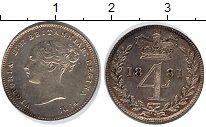 Изображение Монеты Великобритания 4 пенса 1881 Серебро XF Виктория
