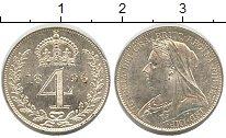 Изображение Монеты Великобритания 4 пенса 1896 Серебро UNC-