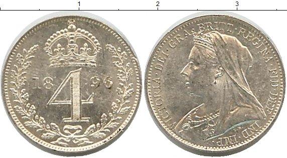 Картинка Монеты Великобритания 4 пенса Серебро 1896